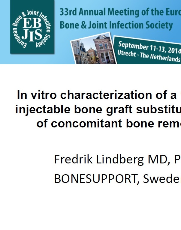 In vitro characterization of a vancomycin eluting injectable bone graft substitute with examination of concomitant bone remodeling in rabbit
